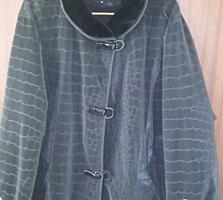 Продам черную куртку под дубленку 120 р.