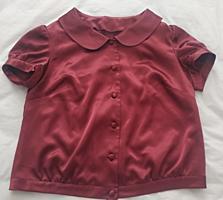 Блузка шелковая бордовая - 48 р-150 руб. Балка, р-н газконторы