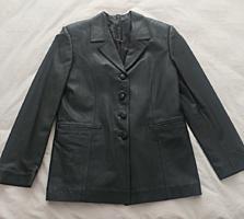 Кожаный пиджак новый 48 р. - 80 уе. Балка, р-н газконторы