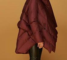 Куртка-пуховик женская стильная новая XL Paris, цвет спелая вишня