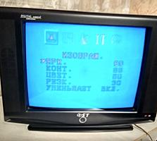 Продаётся телевизор фирма ST. Чёрного цвета. Б/у. На 200 телеканалов.