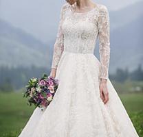Лёгкое, нежное свадебное платье