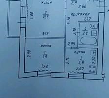 Большая 1 комнатная квартира переделана в 2 комнатную в Тирасполе