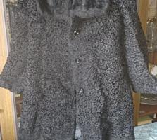 Каракулевая черная шуба