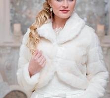 Свадебная белая шубка-болеро+ Платье + Сапожки!