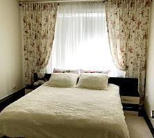 Мирча чел Бэтрын, 1-комнатная, большая, 42м2, евроремонт! Мебель!