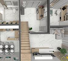 3 ком. кв., часть 1.5 эт-го нового дома, 92 м2 в сел. Чореску