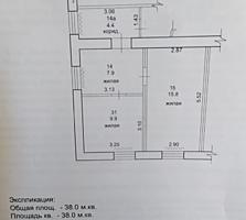 Балка, 4/5, две комнаты с прихожей в общежитии коридорного типа.