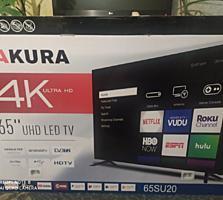 Срочно продаю новый led телевизор sakura 65su20 в упаковке