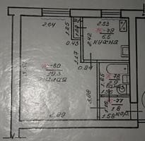 Продам 1-ком. кв. 4/5 Ленинский г. Бендеры без балкона.