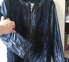Продам курточку эко кожа хорошего качества рукав три четверти