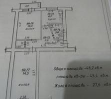 Продаю 2-комнатную квартиру на Ленинском, Космонавтов