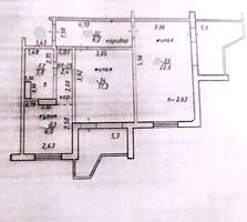 2-к квартира в сером варианте 7/10 58,3/39,9/6 два балкона 5,3 и 5,6