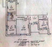3-к кв. в сером варианте 6/10 72,6/40,9/7,5 два балкона 5,3 и 5,6 кв.