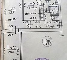 3-к просторная квартира 2/5 62,2/43,5/6,6 балкон 5 кв. м. не застеклен