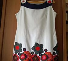 Платье р 48 лен