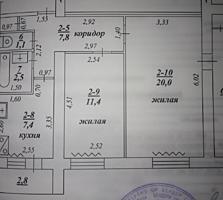 2-комн. кв., 2/5 этаж, ул. Комсомольская д. 21, Центр