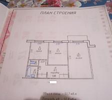 2 комнатная Казармы 9/9 + тех. этаж, не угловая, жилая, с мебелью