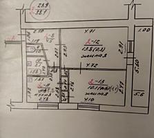 Продам 2-комнатную квартиру без ремонта