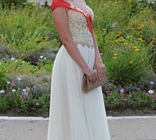 Продам нежное выпускное платье в пол