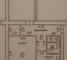 Продаётся 2х комнт. квартира на Балке, 3\5, середина, Краснодонская