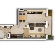Vinzare apartament cu o camera, com. Stauceni. Pret 25 500 euro.