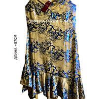Платье оригинального покроя размера L