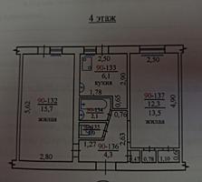 Продам 2-комнатную квартиру в центре, район Рынка