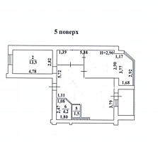 Двухкомнатная двухсторонняя квартира