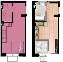 Квартира-студия в жилом комплексе комфорт-класса