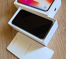 Apple iPhone X 64 Гб Белый (Коробка, Блок, Кабель)