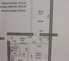 Продам 2-комнатную квартиру на Ленинском, 2/5 эт., 48 кв.