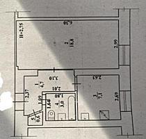 Однокомнатная квартира идеальной планировки с ремонтом