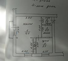 1 комнатная 4/4 крыша шатровая центр Бородинки 30/19/6 жилая светлая