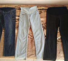 Джинсы и брюки для беременных. В хорошем состоянии, размер 42-44.