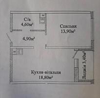 Продам однокомнатную квартиру в ЖК Акварель 3
