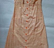 Платье-сарафан из хлопка, размер М (новый)