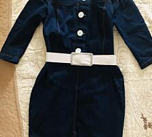 Платье джинс-коттон, размер С-М 450 лей