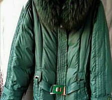 Зимний ПУХОВИК УКОРОЧЕННЫЙ(новый, зеленый), размер L, XL, XXL
