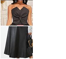 Комплект кожаная юбка и корсет