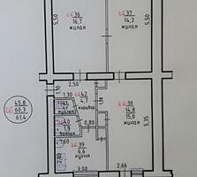 3-х комнатную квартиру в Центре ул. Маяковского 2-й этаж