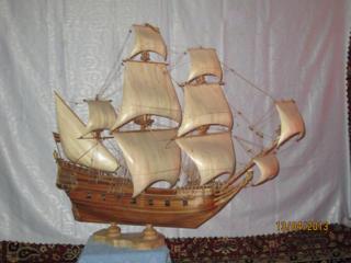Изготовление модели парусных кораблей для подарка и интерьера.