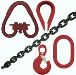 Грузозахватные приспособления и аксессуары: трос, цепи...