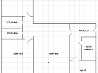 3-комнатная квартира в центре Рышкановки