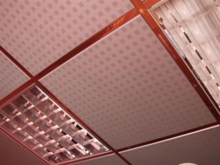 Tavan casetat metalic cu structura la vedere 595*595