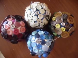 Ёлочные подарочные шары, украшенные вручную, недорого!