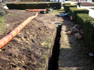 Бельцы. прокладка труб водопровода канализации доставка чернозема