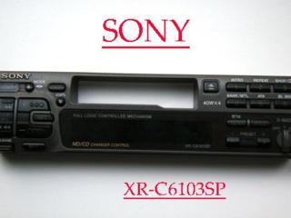 Панель съемная Sony XR-C6103SP. БМВ-3, -5, -7. Разборка