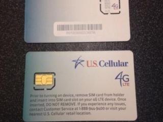 LTE sim (сим) карты US Cellular, Sprint. Verizon - 9$