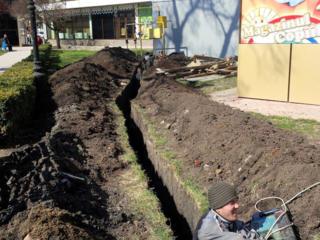 Бельцы. Копаем прокладка труб водопровода канализации бетоновырубка